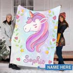 Custom Blankets Unicorn Personalized Baby Blankets 2 - Fleece Blanket