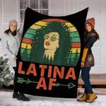 Customs Blanket Latina AF Vintage Retro Latinas Blanket - Fleece Blanket