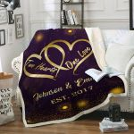 Custom Blankets Mr and Mrs Personalized Blanket - Perfect Gift For Wife 1 - Fleece Blanket