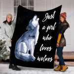 Custom Blanket Wolf Blanket - Perfect Gift For Girl - Fleece Blanket #19576