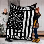 Customs Blanket Make America Satanic Great Again Blanket - Fleece Blanket