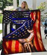 Custom Blanket POLICE FLAG Quilt Blanket - Quilt Blanket
