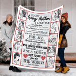 Customs Blanket To My Loving Mother Blanket - Perfect Gift For Mom - Fleece Blanket