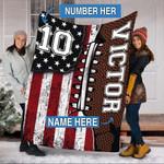 Custom Blankets Football Personalized Blanket - Perfect Gift For Son - Fleece Blanket