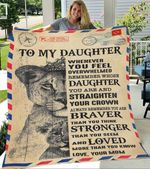 Custom Blanket Letter Lion To My Daughter Personalized Blanket - Gift For Daughter
