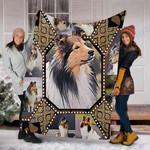 Custom Blanket Sheltie Embroidery Dog Blanket - Fleece Blanket