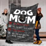 Customs Blanket Labrador Dog Mom Blanket - Fleece Blanket