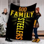 Customs Blanket God Family Steelers Blanket - Fleece Blanket