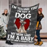 Customs Blanket Whippet Dog Blanket - Fleece Blanket