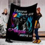 Customs Blanket Miniature Schnauzer Angels Among Us Classic Dog Blanket - Fleece Blanket