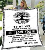 Custom Blankets To My Wife Personalized Blanket - Perfect Gift For Wife 2 - Fleece Blanket
