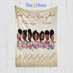 Custom Blanket Black Girl God Say You Are Personalized Gifts Blanket - Fleece Blanket