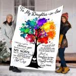 Custom Blanket To My Daughter-In-Law Blanket - Perfect Gift For Daughter - Fleece Blanket