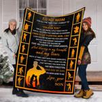 Custom Blankets Veteran To My Mom Blanket - Gift For Mom - Fleece Blanket