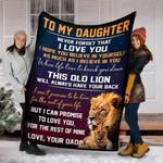 Custom Blankets To My Daughter Blanket 1 - Fleece Blanket