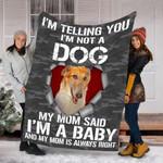 Customs Blanket Borzoi Dog Blanket - Fleece Blanket