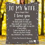 Custom Blankets Personalized Blanket - Perfect gift for Wife - Sherpa Blanket #16924