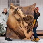 Customs Blanket Horse Blanket - Perfect Gift For Girl - Fleece Blanket