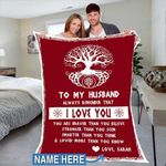 Custom Blankets To My Husband Personalized Blanket - Perfect Gift For Husband 5 - Fleece Blanket