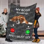 Customs Blanket Boxer Dog Puppy Dog Blanket - Fleece Blanket