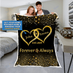 Custom Blankets Mr And Mrs Personalized Blanket With Name And Wedding Year - Sherpa Blanket #59978