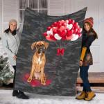 Customs Blanket Boxer Dog Blanket - Valentines Day Gifts For Her - Fleece Blanket