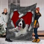 Customs Blanket Landseer Dog Blanket - Fleece Blanket #50082