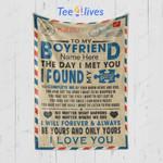 Custom Blanket Personalized Name Letter To My Boyfriend Blanket - Gift for Boyfriend #71854
