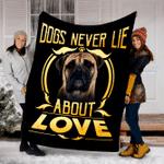 Customs Blanket Bullmastiff Never Lie Dog Blanket - Fleece Blanket