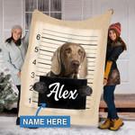 Custom Blankets Weimaraner Dog Personalized Blanket - Fleece Blanket