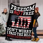 Customs Blanket US Veteran - I am a US Veteran Blanket - Fleece Blanket