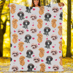 Custom Blankets Poodle Dog Blanket - Fleece Blanket