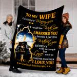 Custom Blanket To My Wife Blanket - Perfect Gift For Wife - Fleece Blanket #10923