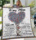 Custom Blanket To My Mom Blanket - Gift For Mom - Fleece Blanket #13130