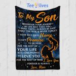 Custom Quilt Blanket To My Son Blanket - Gift for Son #33223