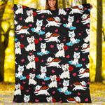 Custom Blankets West Highland White Terrier Dog Blanket - Fleece Blanket