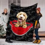 Custom Blanket Labradoodle Dog Blanket - Fleece Blanket