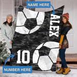 Custom Blankets Soccer Personalized Blanket - Sherpa Blanket