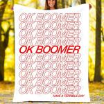 Custom Blankets - OK Boomer Blannket - Fleece Blanket