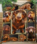 Custom Blanket Dachshund Dogs Chocolate 3D Blanket - Quilt Blanket