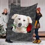 Customs Blanket Aidi Rose Zipper Dog Pocket Blanket - Fleece Blanket