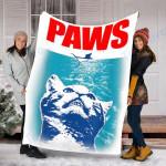 Custom Blanket Paws Parody Blanket - Perfect Gift for Son - Fleece Blanket