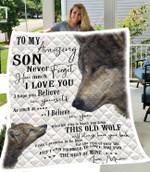 Custom To My Son Blanket - Fleece Blanket (New Custom)