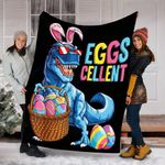 Dinosaur Easter Egg T rex Blanket - Gift For Kids - Fleece Blanket