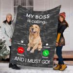 Customs Blanket Golden Retriever Dog Puppy Dog Blanket - Fleece Blanket