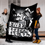 Customs Blanket Wrestling - Free Hugs Wrestling Blanket - Fleece Blanket