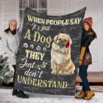 Customs Blanket Tibetan Spaniel Dog Blanket - Valentines Day Gifts - Fleece Blanket