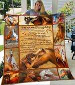 Custom Blankets Horse Blanket - To My Daughter - Fleece Blanket