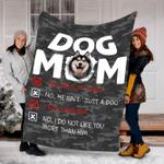 Customs Blanket Husky Dog Mom Blanket - Fleece Blanket