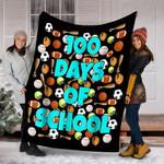 Customs Blanket 100 Days of School Blanket For Kids Or Teachers - Fleece Blanket